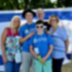 Campers and grandparents at Israeli Fair