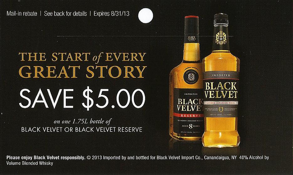 Black Velvet Rebate