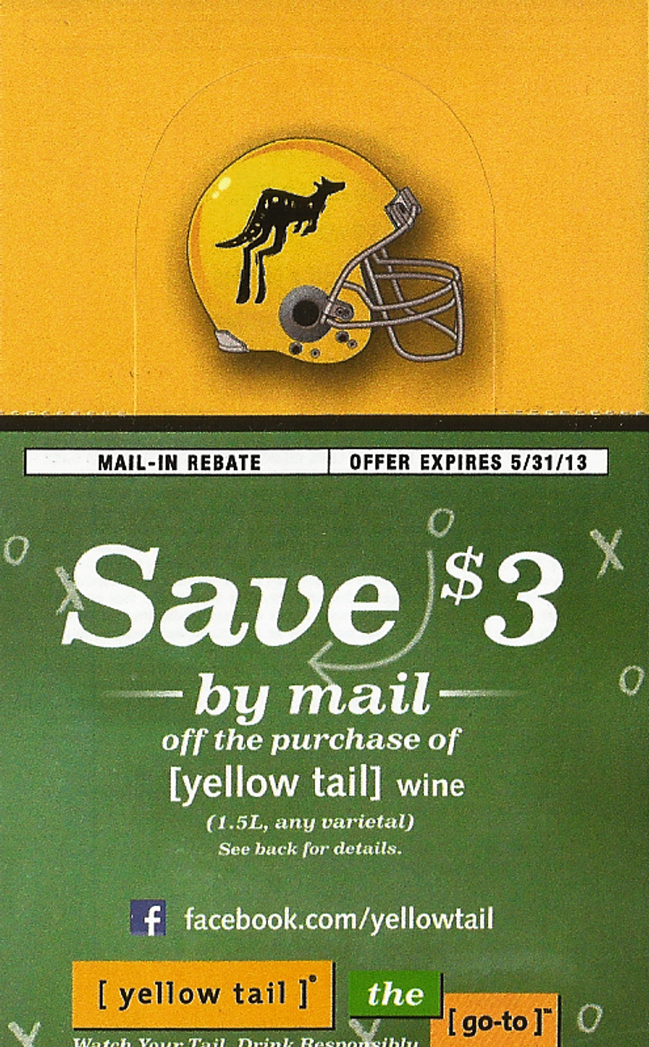 Yellow Tail Wine 1.5ml Rebate