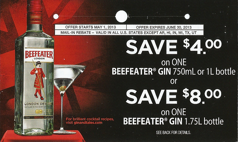 Beefeater Gin Rebate