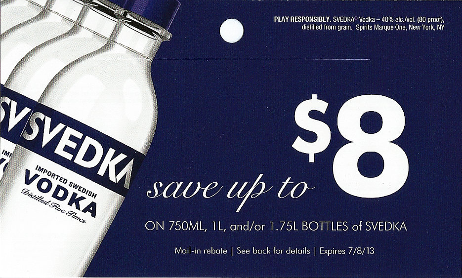 Svedka Vodka Rebate