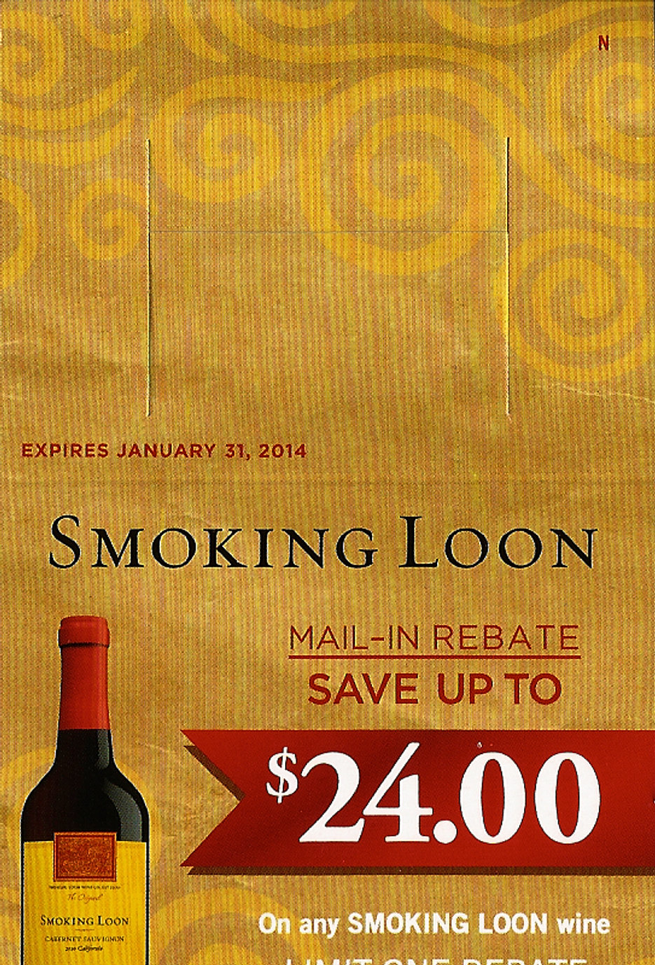 Smoking Loon Wine Rebate