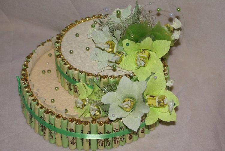 Торт из конфет мастер