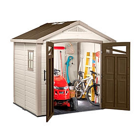 garden storage plastic sheds bike shed keter outdoor tool. Black Bedroom Furniture Sets. Home Design Ideas