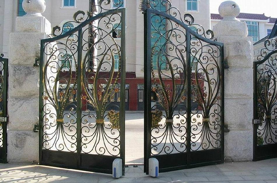 Cercas de hierro sistema de siluetas de las cercas del - Cercas de hierro ...
