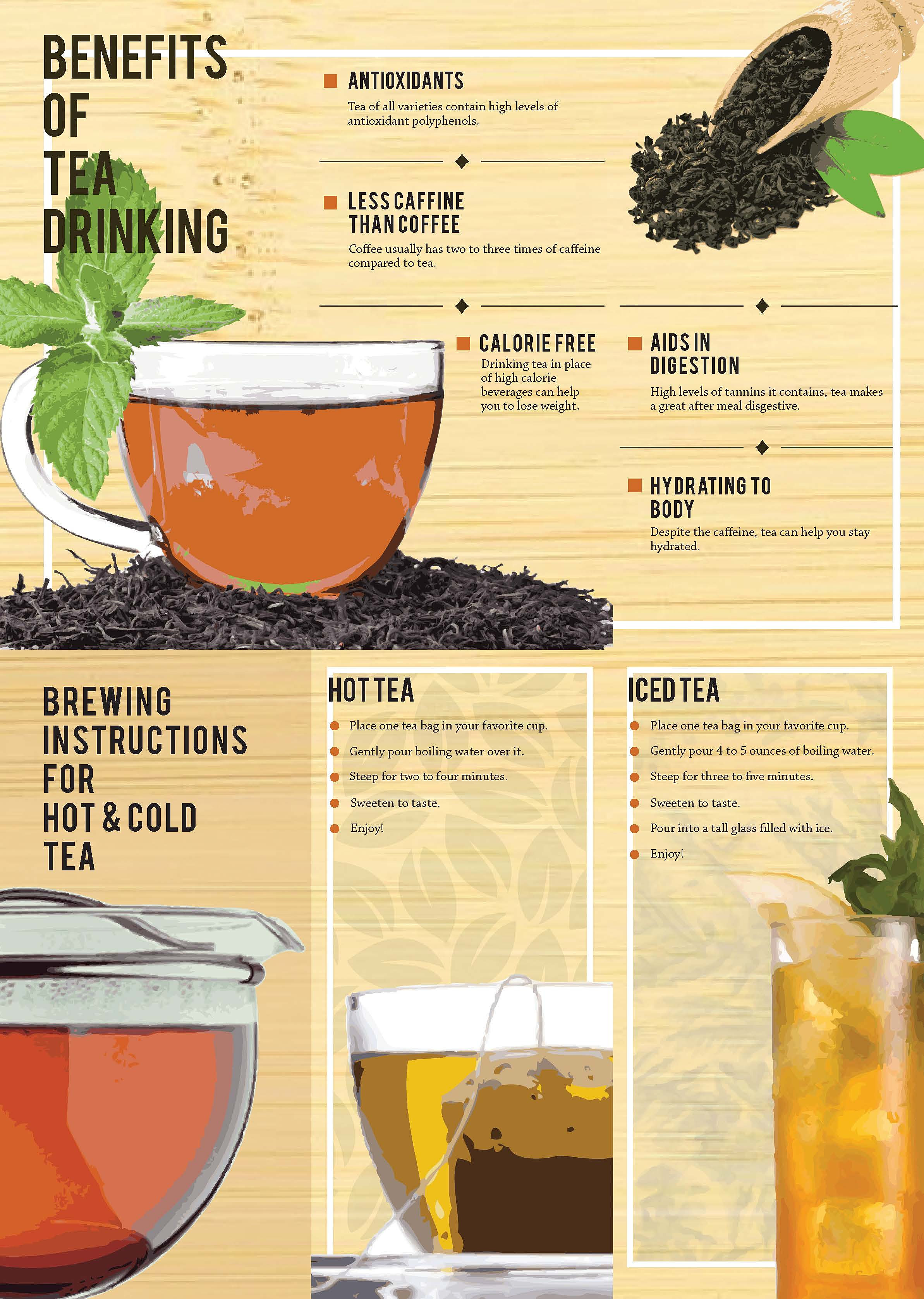 jaron | Astique Tea Brochure Design (Inside)
