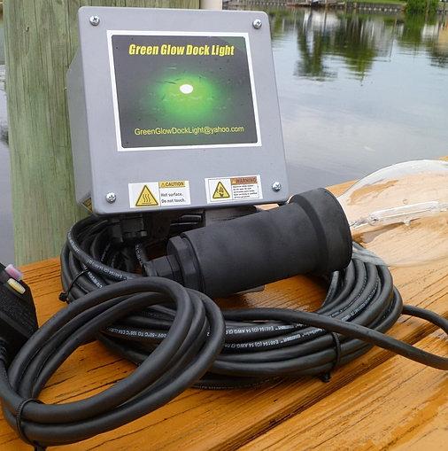 underwater fish lights, snook light, dock light, green glow dock light, Reel Combo