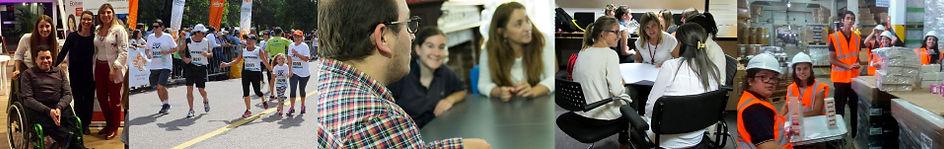 Grupo de fotos que muestran lo que hacemos: gestión e inclusión laboral en empresas y organizaciones.