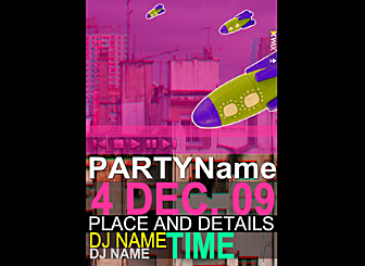 Urban Invite Template - This Artistic looking Widget template is easy to customize. Just edit to make it your own in no time at all