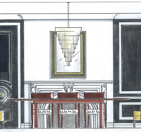 Alva au portfolio for Dining room elevation