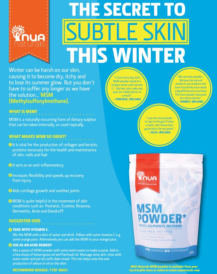 Benefits of msm for skin