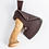 Кованный топор комплектуется чехлом из натуральной кожи