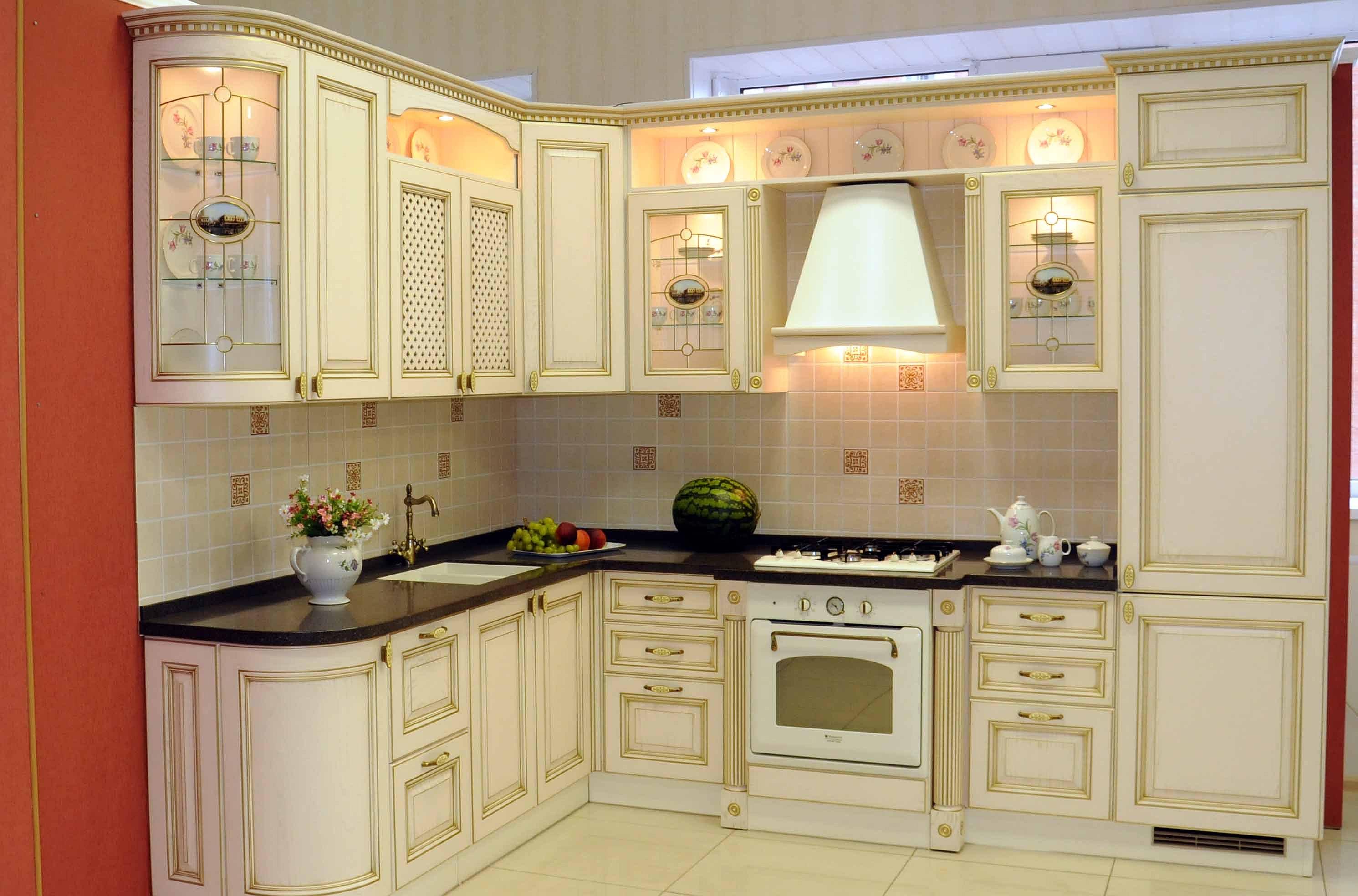 кухни в цвет слоновой кости фото