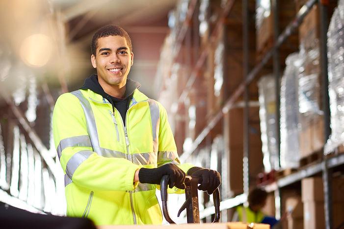 Diedrich logistics warehouse worker