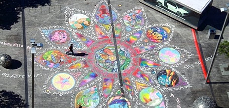 Radicliffe Place Chalk Art view from Council building.jpg