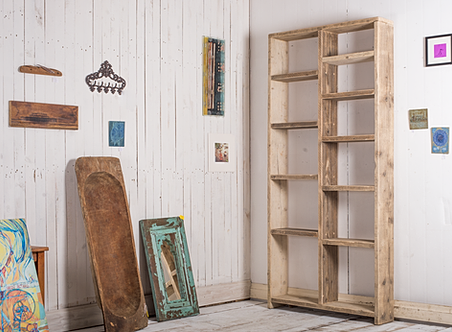 Reclaimed Wood Shelves Bookcases Brighton Scaffold
