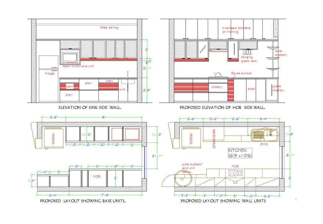 Kitchen Plan Elevation : Wix pradnya created by lib based on my
