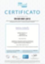 CERTIFICAZIONE EN ISO 9001:2015