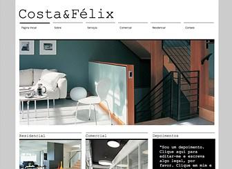 Arquiteto & Co. Template - Este template limpo e moderno é ideal para arquitetos e designers de qualquer área. O espaço generoso para texto e imagens permite que você mostre seus projetos de todos os ângulos. Personalize o design e o layout para destacar a sua empresa da multidão.