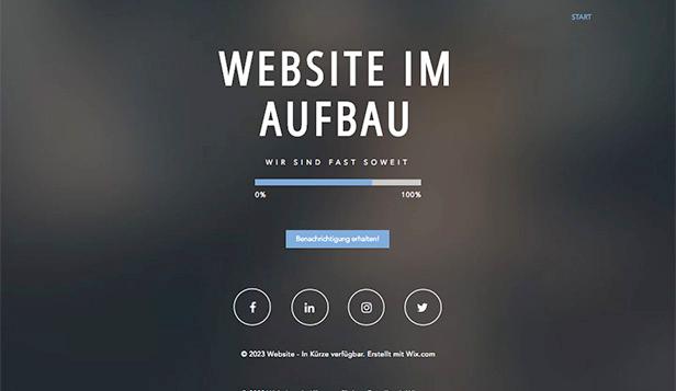 HTML Homepage Vorlagen für Demnächst verfügbar   Wix