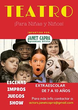 Teatro niños y niñas por Janet Capra