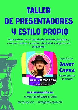 Taller presentadores por Janet Capra Actors