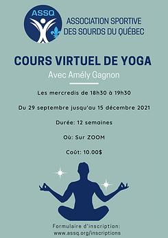 Affiche de Journée internationale de yoga couleur ivoire et vert sauge.png
