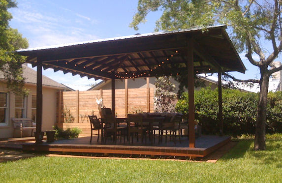Steel and ipe come together in this barbeque installation which later ...