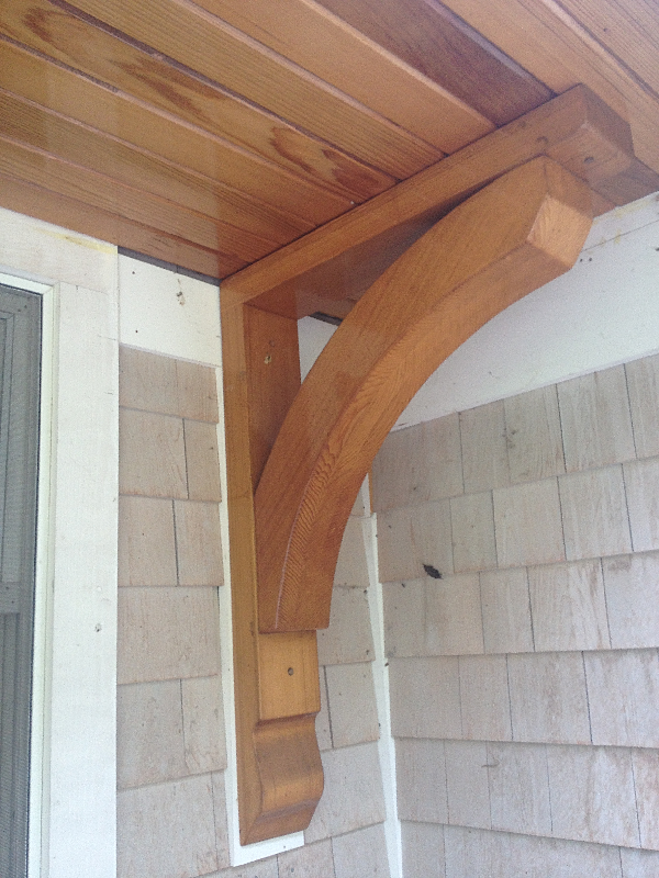 Charming Cedar Corbel #1: Good Kelsey On The House Brian Kelsey Cedar Corbel With Cedar Soffit.
