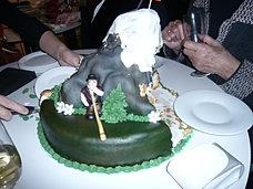 Cake with Alphorn-player