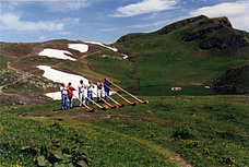 Alphorn-playing on the Pizol