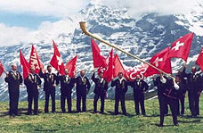 Alphorn and Flag-Wavers