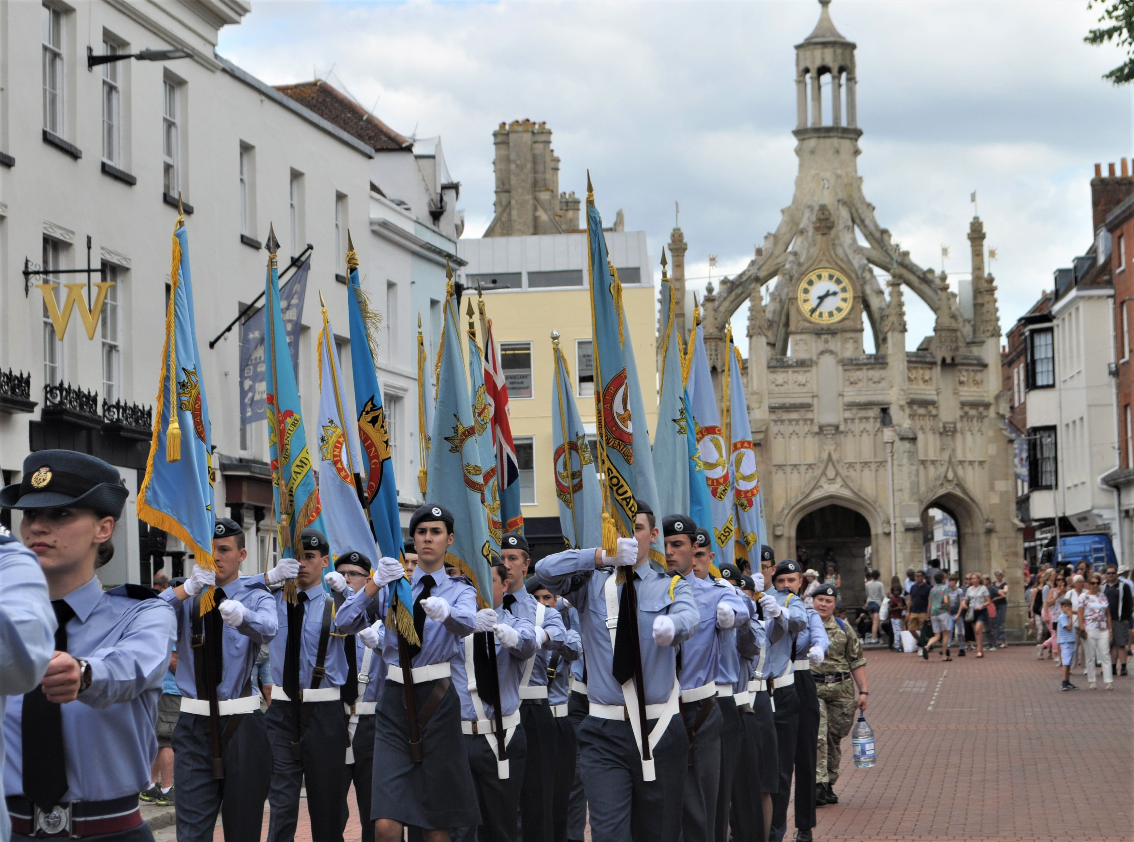 Standard bearers at Wing Parade
