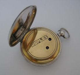 Silver watch with duplex escapement the pocket watch for Watch duplex free online