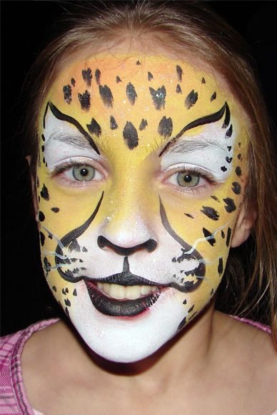 Cheetah Face Painting Pictures