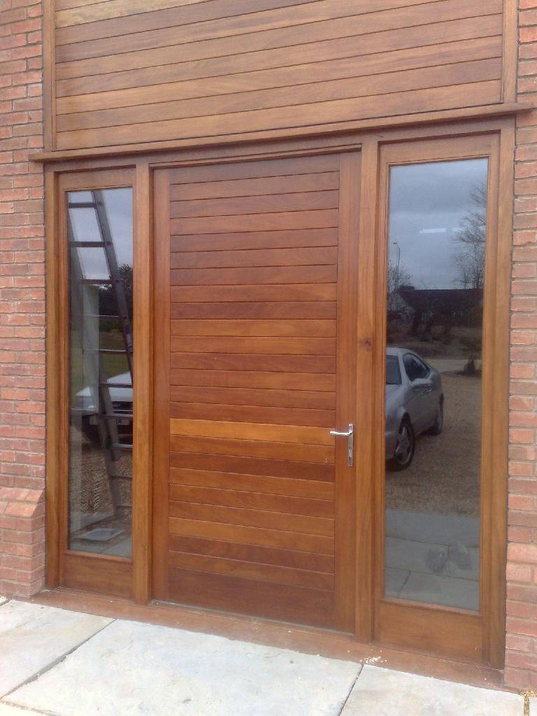 Iroko Door And Frame.jpg & Iroko Hardwood Doors \u0026 Contemporary Front Door