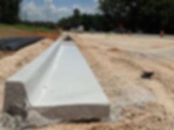 fresh curb installed on hwy 31