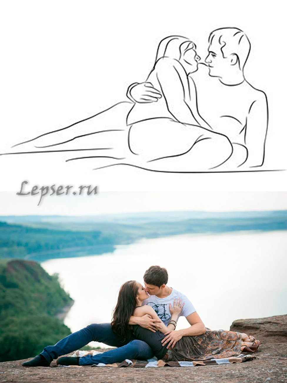 Схемы позирования для пар