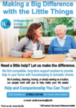 Elderly Home Support for Daily Chores an