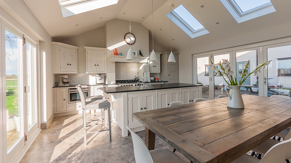 Modern country style incredible grey kitchen for Modern country style