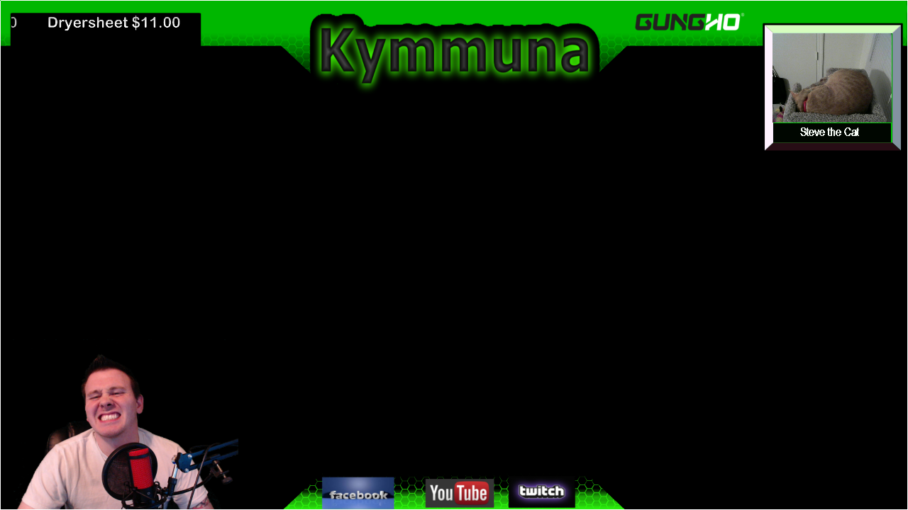 Kymmuna online gaming and streaming twitch layout