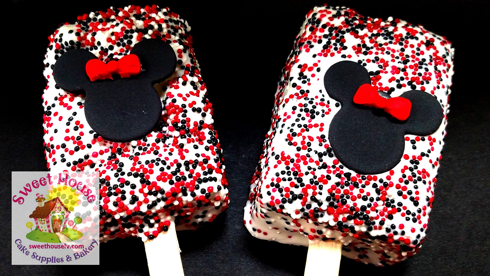 Home handmade candies chocolate dipped rice krispy treats 2 - Minnie Rice Krispie Treats