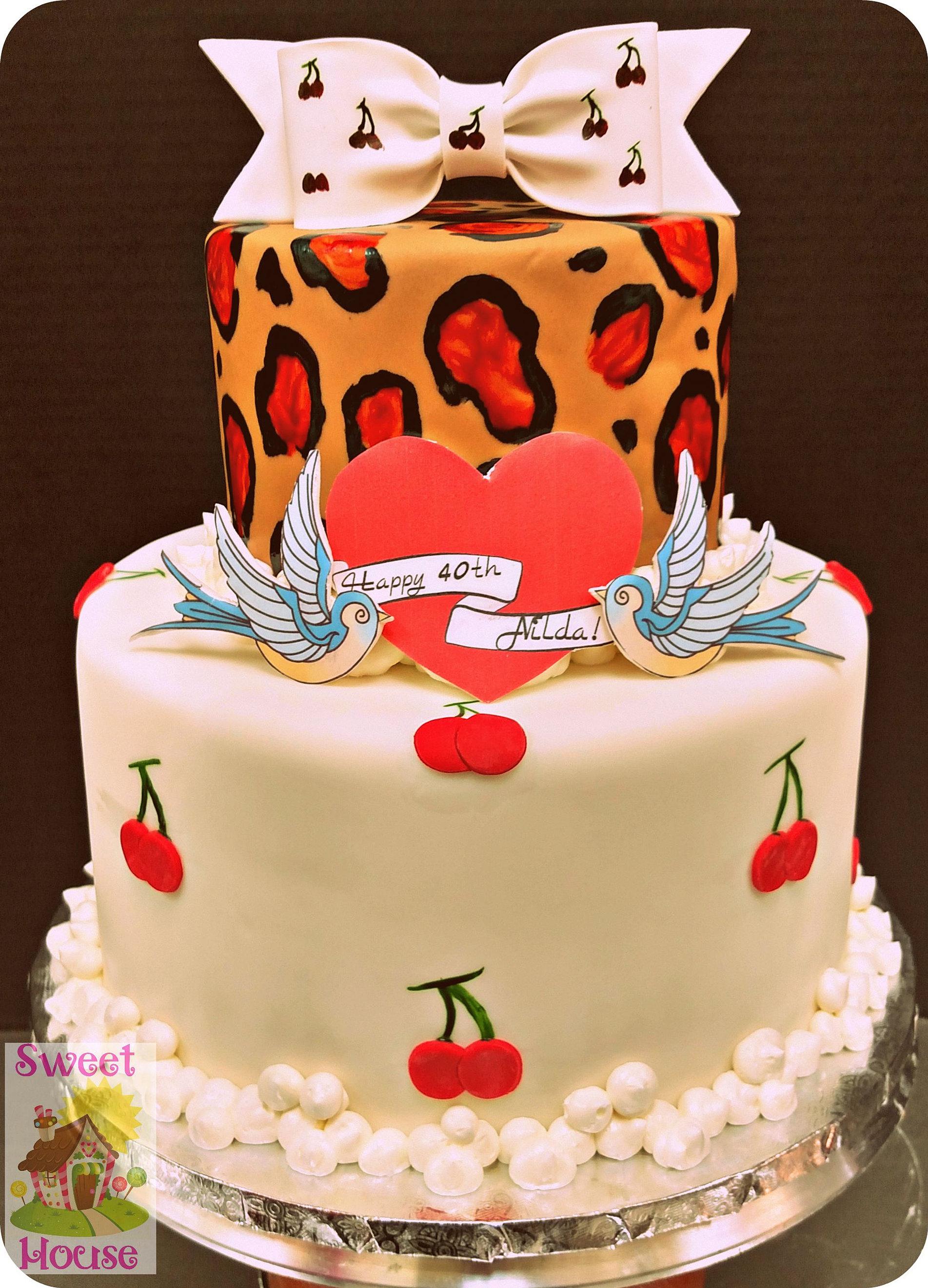 Sweet House Cake Supply  Bakery Birthday Cakes - Rockabilly birthday cake