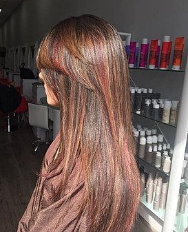 Hair salon on riverdale mandys hair spa clients photo gallery red honey highlights reddish copper hair pmusecretfo Gallery