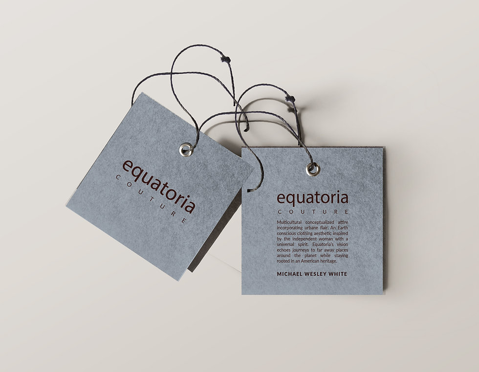 Equatoria Label Clothing Hang Tag