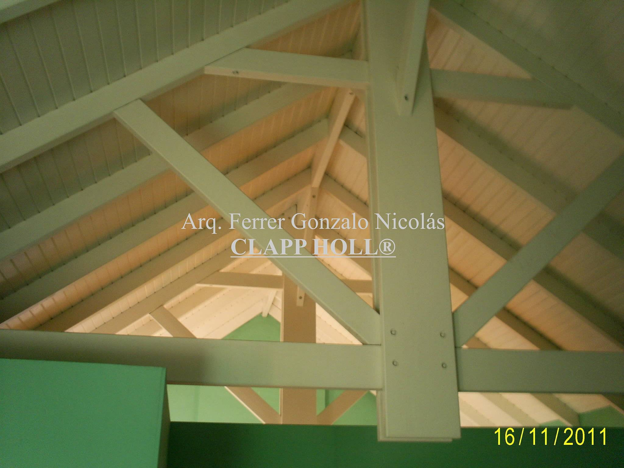 Techos de madera en c rdoba empresa clapp holl techos - Techos de madera blanco ...