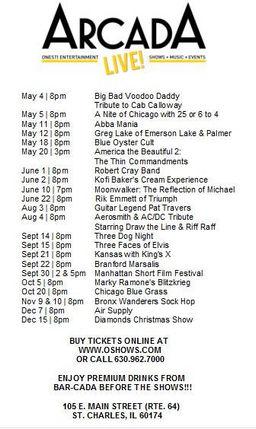 Show Lists 1/21