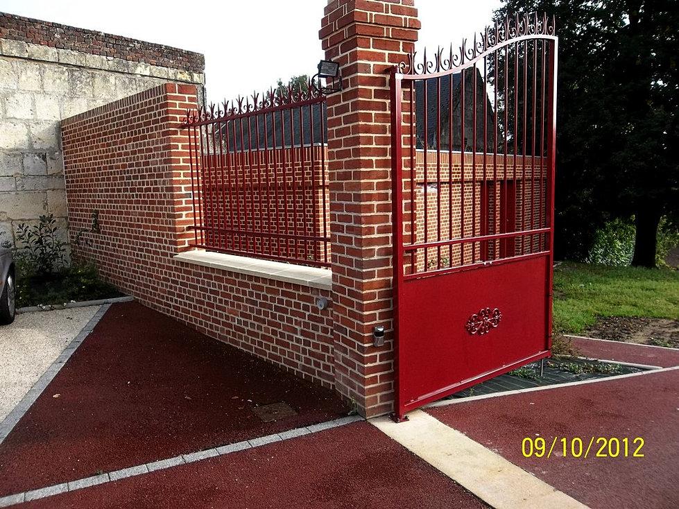 Cip cl ture portails choisy au bac for Petit portail fer