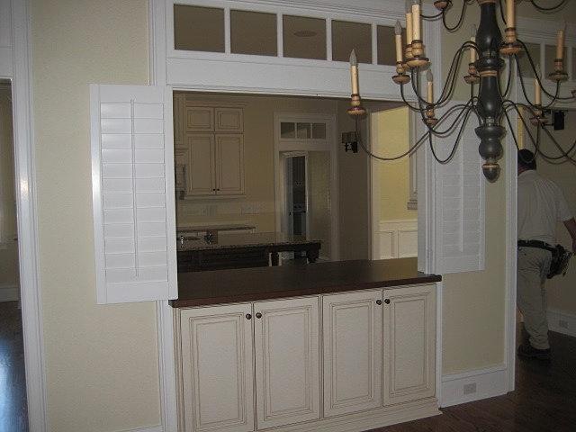 Suber Custom Interior Shutters Window Treatments Tallahassee Bi Fold Shutters Kitchen Pass Thru