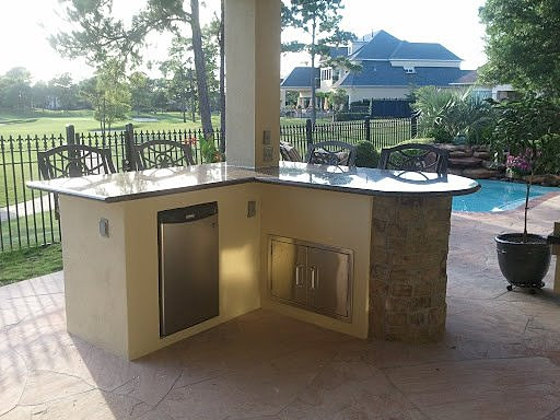 outdoor kitchens patio covers katy tx houston stucco